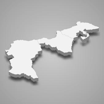 Изометрическая карта аппенцелль ауссерроден - кантон швейцарии