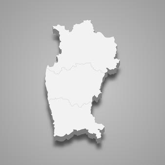 Изометрическая карта кокимбо - регион чили