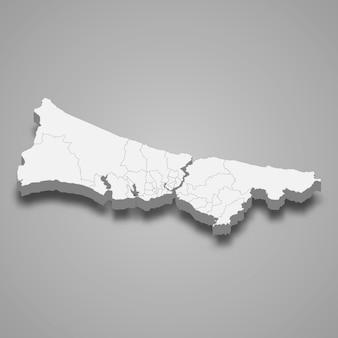 Изометрическая карта стамбула - провинция турции