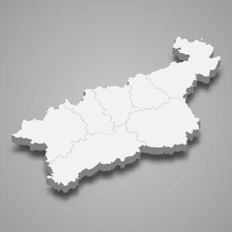 ウースチーナドラベムの等角図はチェコ共和国の地域です