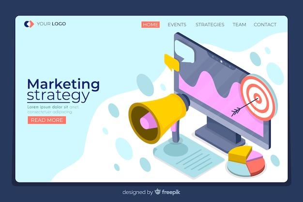 Isometric marketing landing page