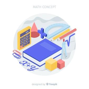 Isometric math concept background