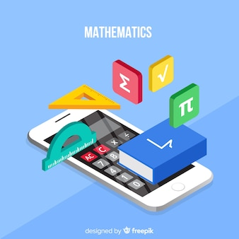 Isometric math concept