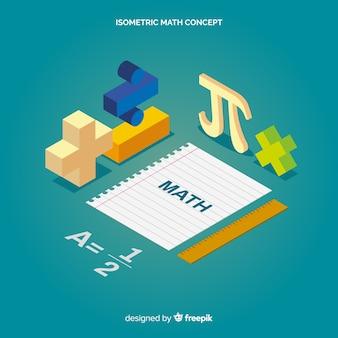 Isometric math elements background