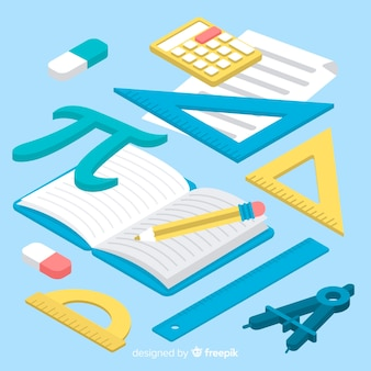 Isometric maths material background