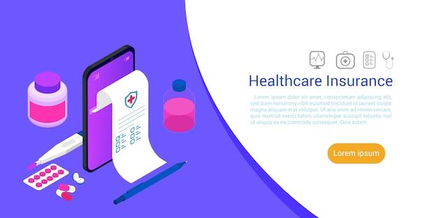Isometric medicine healthcare technology .