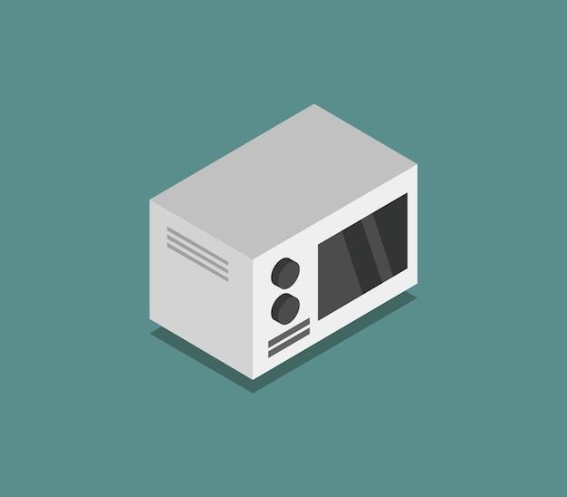 Isometric microwave oven