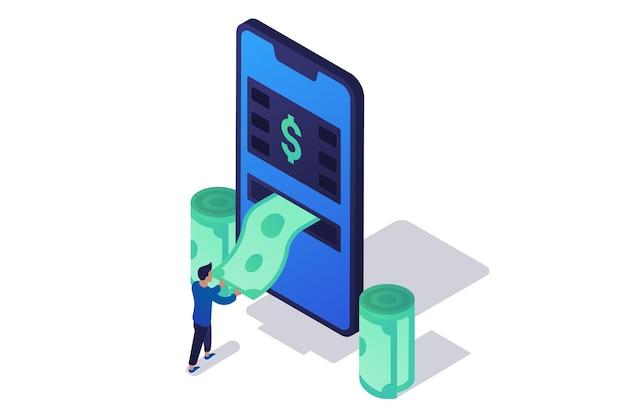 Изометрический мобильный банкомат
