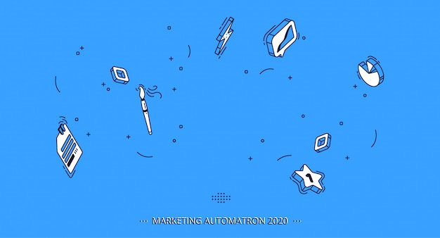 ビジネス、マーケティングのための等尺性モバイルアイコン