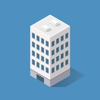 アイソメトリックモダンな建物。ベクトルイラスト