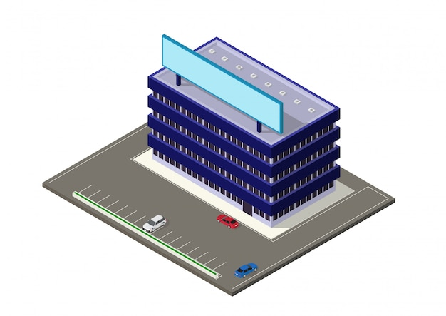 Isometric modern building