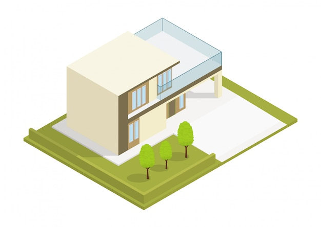 Isometric modern house
