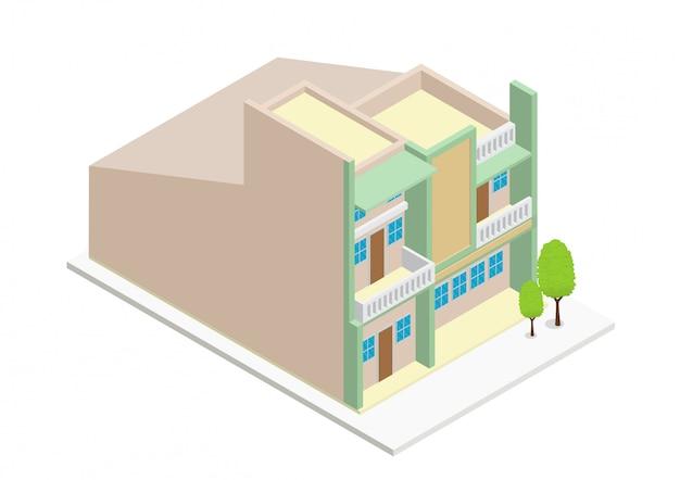 아이소 메트릭 현대 집