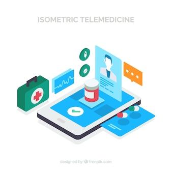 Isometric modern online doctor design