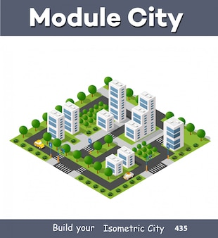 Isometric module area downtown