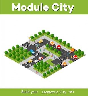 Isometric module area downtown