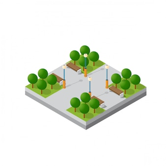Isometric module block
