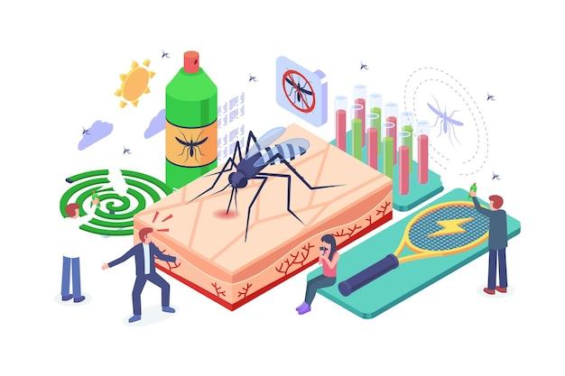 Isometric mosquito disease prevention concept