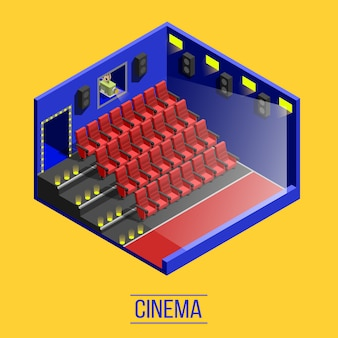 Isometric movie theater