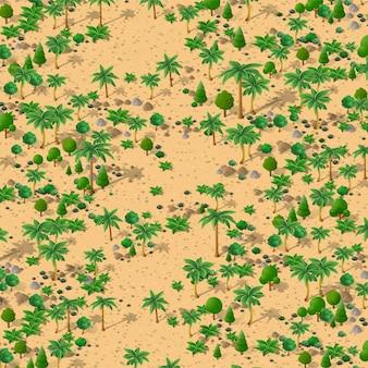 Isometric natural landscape