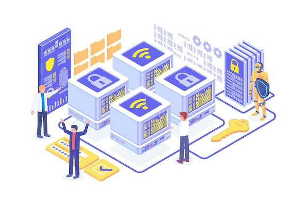 Isometric network security concept