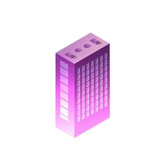 Isometric night building