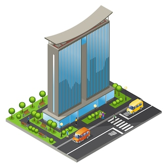 Isometric office building concept