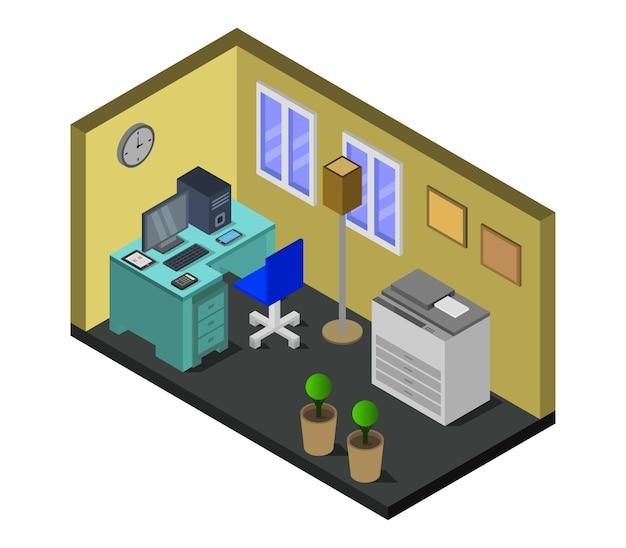 Isometric office room