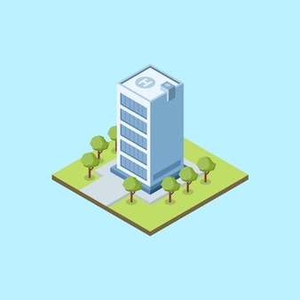 Isometric office with helipad
