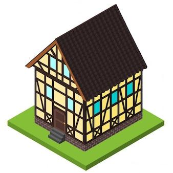 Isometric old house