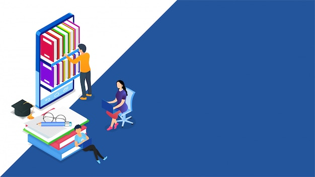 Isometric online library.