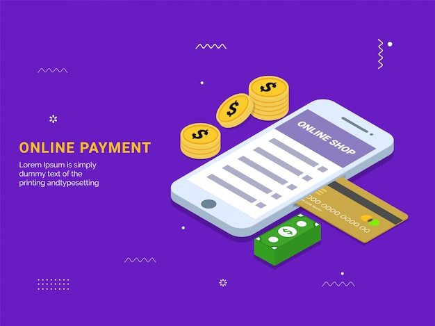 Isometric online payment from app.