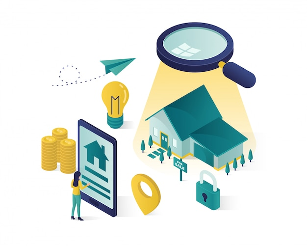 Isometric online searching