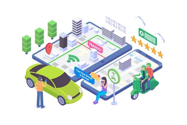 Isometric online transportation concept