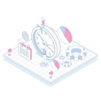 Isometric outline time management