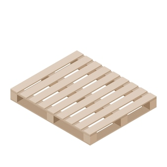 Isometric of pallet for packaging stacking