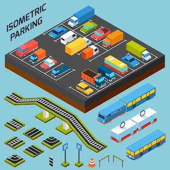 Isometric parking elements