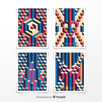 Isometric pattern cover collection