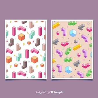 Isometric pattern covers
