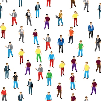 Isometric people business