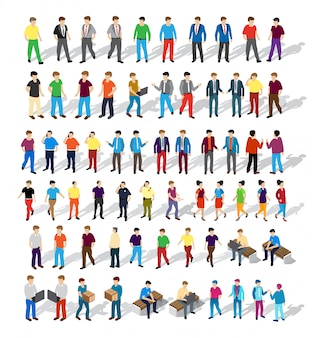 Isometric people urban business environment, businessman