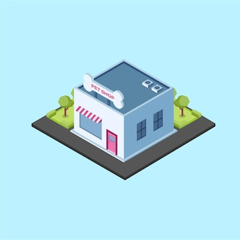 Isometric pet shop