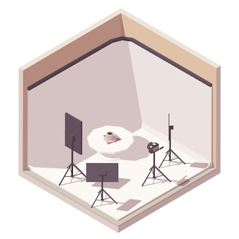 Isometric photographer studio icon