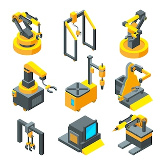 Isometric pictures of machinery