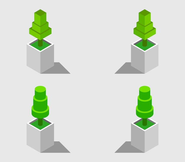 Isometric plants set