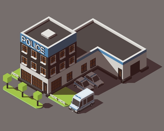 Isometric police department