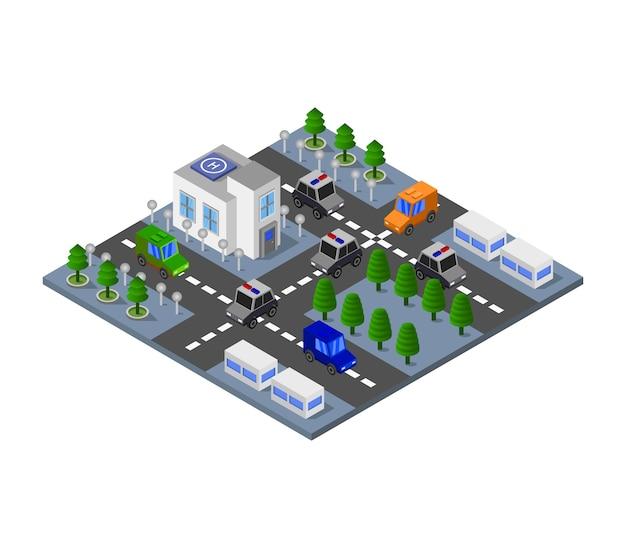 Изометрические полицейский участок
