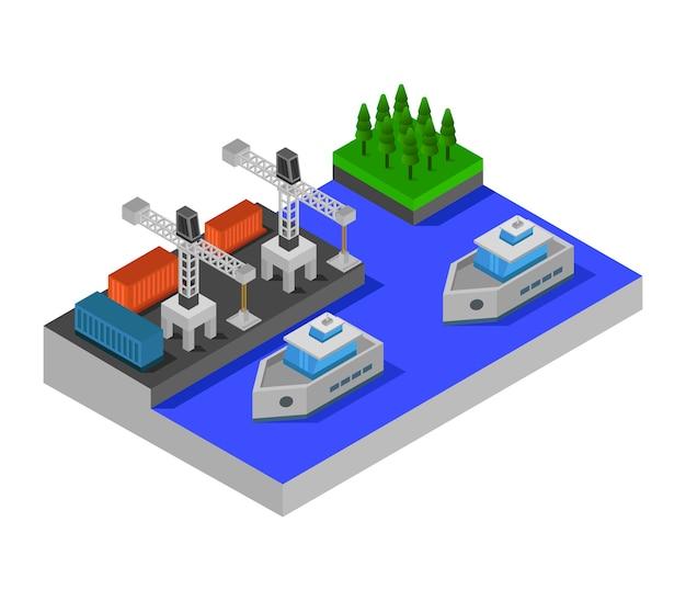 Isometric port