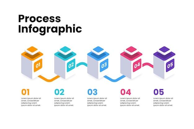 Изометрические инфографики процесса