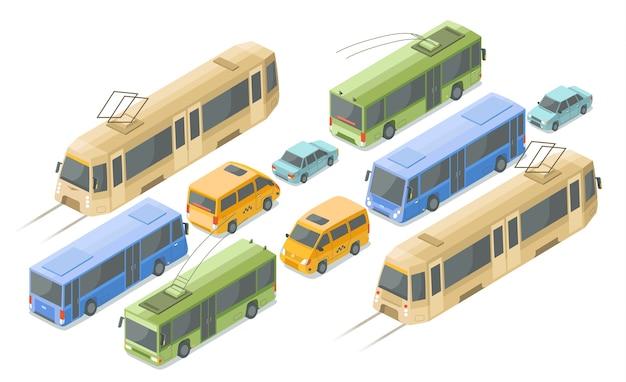 Isometric public and passenger transport